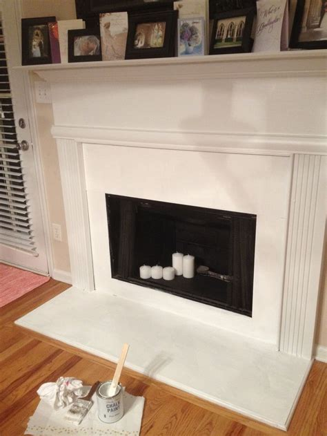 inside fireplace paint painted with high heat paint inside along with chalk paint