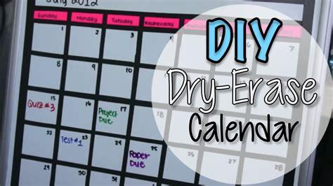 how to make a calendar on a erase board diy erase board calendar
