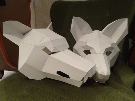 How To Make An Mask Out Of Paper Mache - make your own wolf mask fox mask instant diy