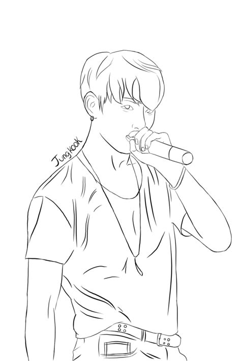 nothing in particular a coloring journal books jungkook lineart by kidocat on deviantart