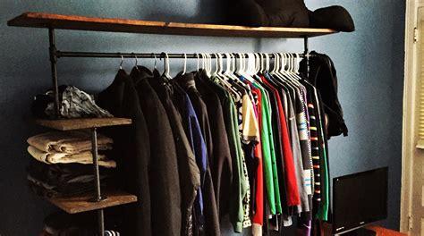 pipe clothing rack diy diy pipe shelf clothes rack andrew brooks