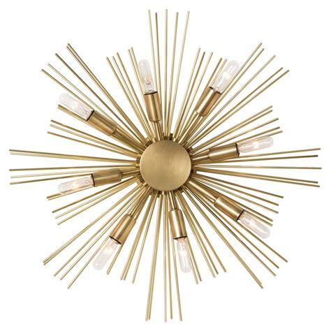 gunnar starburst brass sputnik sconce ceiling mount