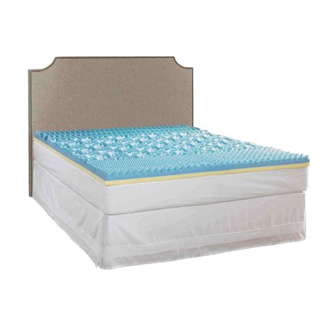 home design twin mattress pad rest rite 3 in twin gel mattress pad imtopb301tw the