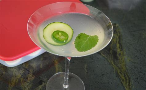 martini mint cucumber jalapeno mint martini