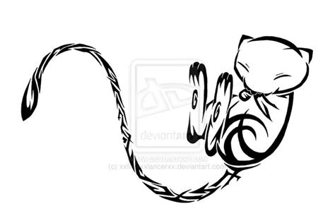 mew tattoo ok ill be honest i do tribal mew