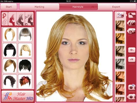 hairstyles app free hair master hd virtual hairdresser for ipad virtual