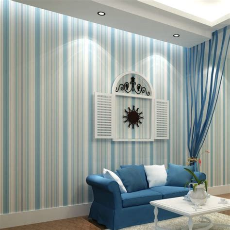 blue striped walls top 15 living rooms with striped walls ultimate home ideas
