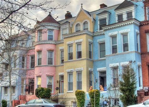 pastel houses a row of pastel houses on monroe street nw flickr