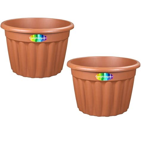 crazygadget 174 large plastic planter indoor outdoor use