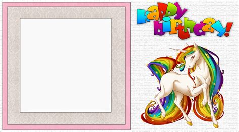 Free Printable Unicorn Birthday Invitations