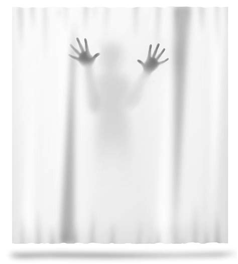 scary shower curtain scary shower curtain the green head