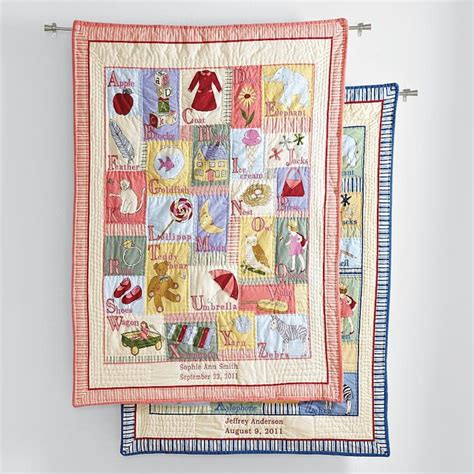 Personalized Quilts Personalized Abc Keepsake Quilt Contemporary Baby