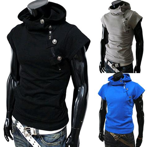 design hoodie sleeves fashion design newest short sleeve hoodies jacket men