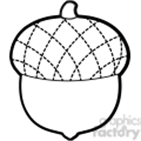 Acorn Drawing Outline by Black And White Acorn Clipart Clipart Suggest