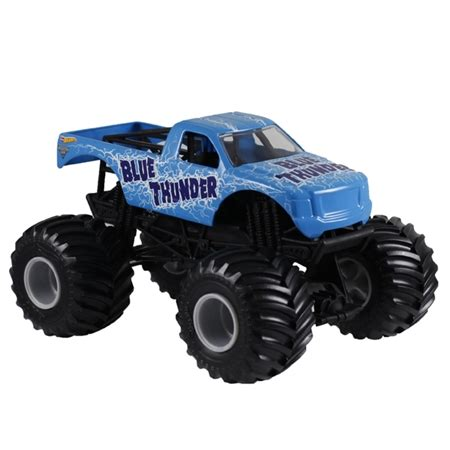 blue thunder truck 1 24 wheels blue thunder truck