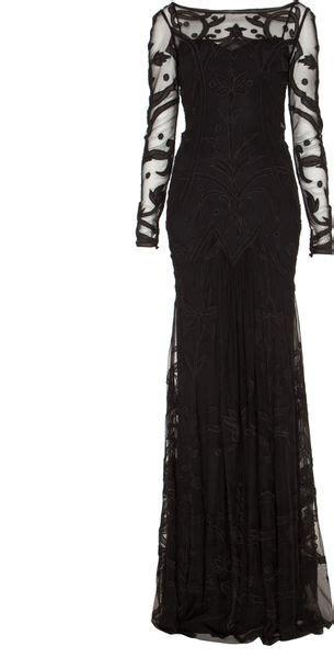 temperley london tattoo dress temperley london long francine tattoo dress in black lyst