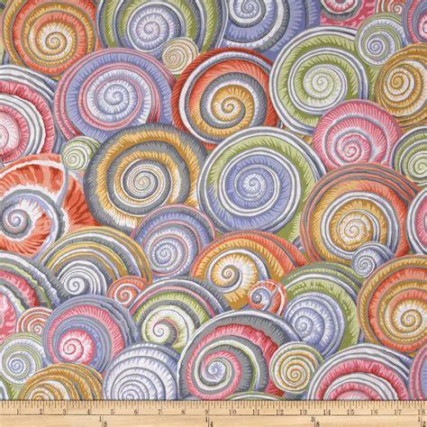designer fabric kaffe fassett spiral shells grey discount designer