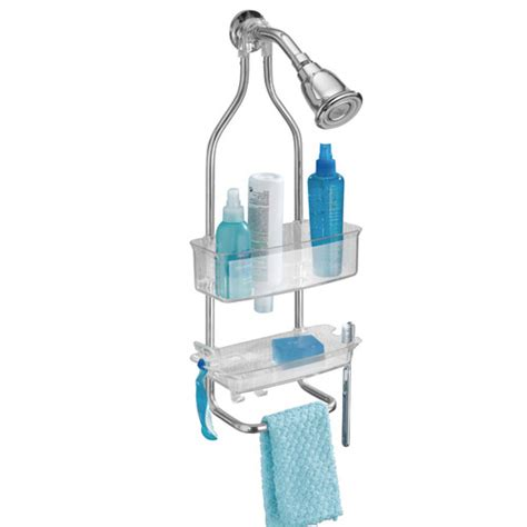 plastic bathroom caddy zia stainless and plastic shower caddy clear in shower