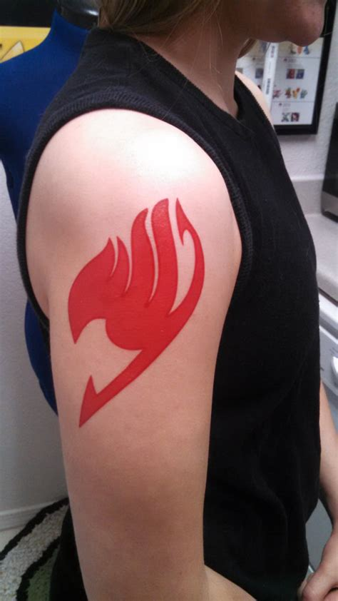fairy tail symbol tattoo this temporary makes a addition to any