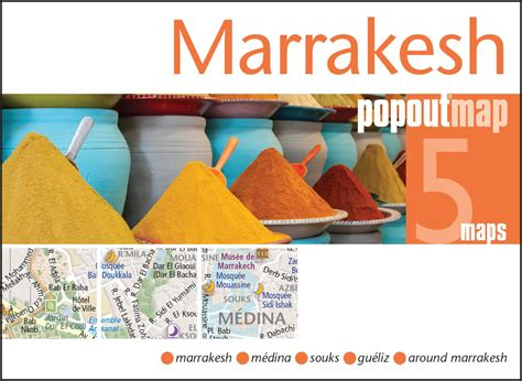 florence popout map handy marrakesh morocco popout map by popout products