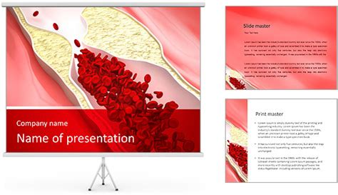 Blood Vessel Powerpoint Template Backgrounds Id Blood Ppt Templates Free