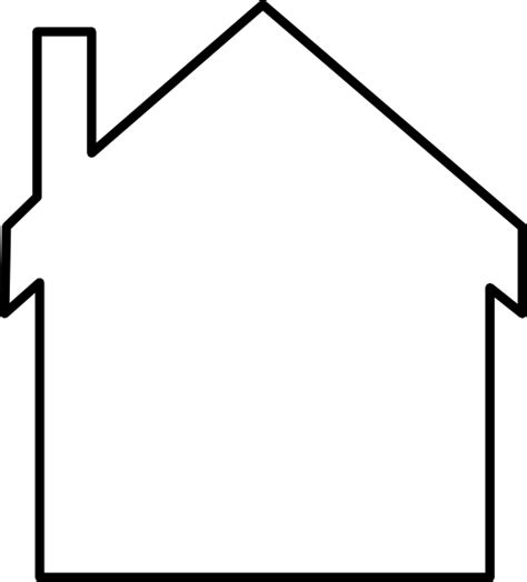 template of house house silhouette clip at clker vector clip