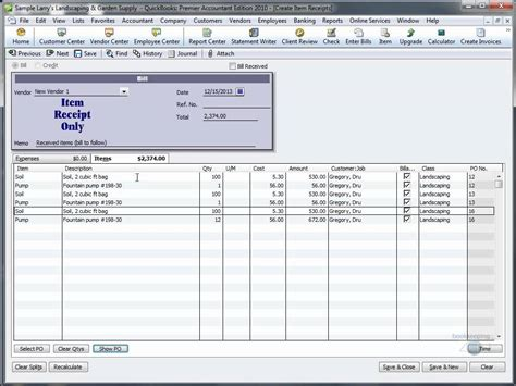 quickbooks tutorial on inventory quickbooks training videos receive inventory without bill