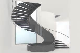 Different types of staircase with geometrical stairs and grey stairs
