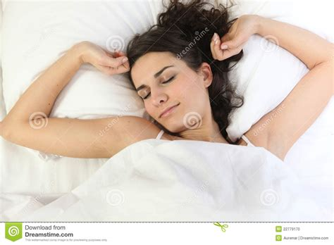 girl in bed girl in bed waking up stock photo image 22779170