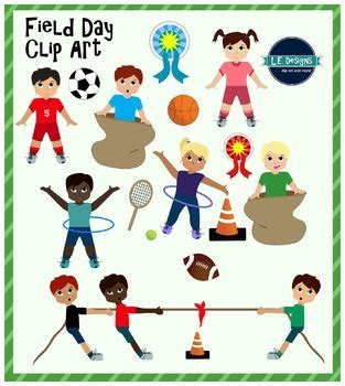 field day clip field day clipart by le designs teachers pay teachers