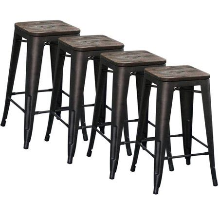 Industrial Bar Stool Set by Industrial Style Counter Stool Gunmetal Set Of 4
