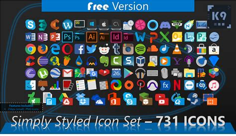 Icon Set by Simply Styled Icon Set 731 Icons Free By Dakirby309