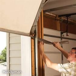 Garage Door Handyman Fixing Garage Door Bottom Seal The Family Handyman