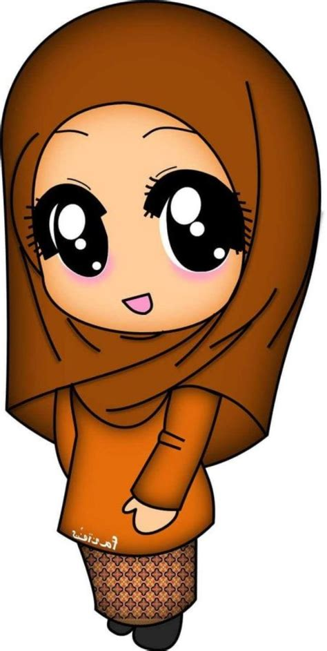 gambar kartun muslimah lucu unik imut terbaru