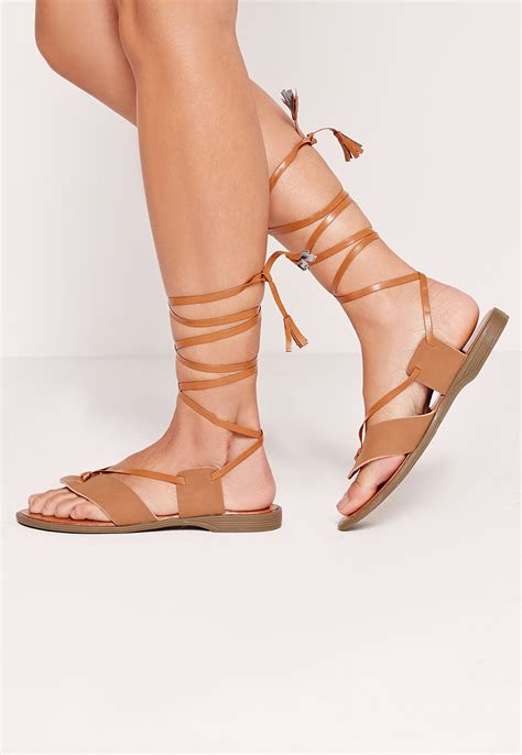 Sandals Around Toe by Missguided Toe Post Wrap Around Flat Sandal Lyst