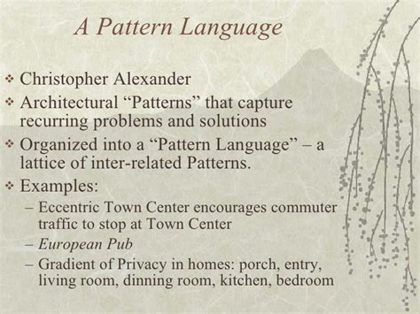pattern language list of patterns toward a socio technical pattern language
