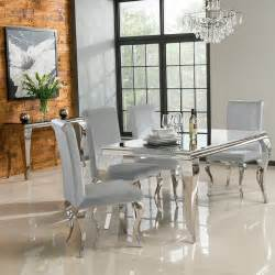 Silver Dining Table And Chairs Silver Louis Velvet Dining Chair Sold In Pairs The Top Drawer