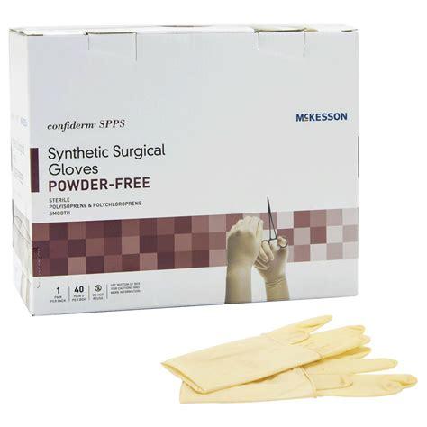 powdered and powder free surgical mckesson confiderm spps sterile yellow powder free