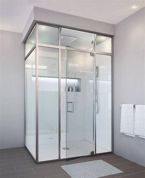 Glass Crafters Shower Doors Glasscrafters Regal Hybrid Series Frameless Shower Door Contemporary Bathroom New York