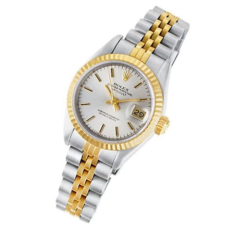 s rolex datejust 69173 gold stainless steel