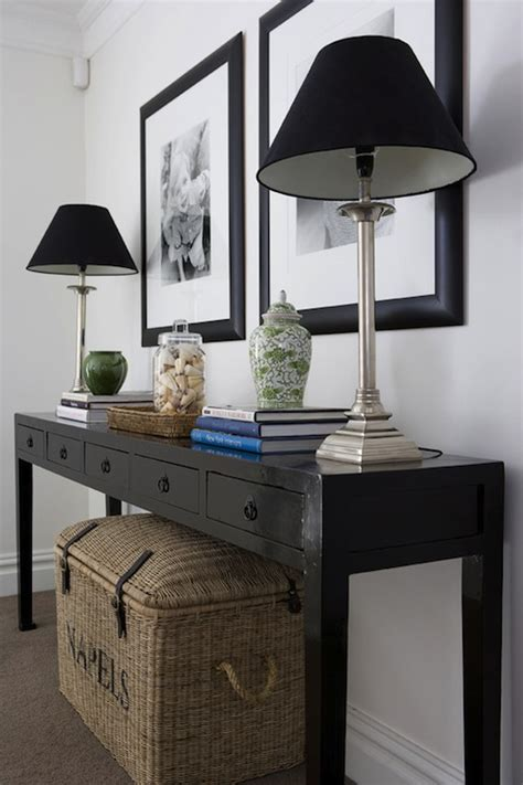 Black Foyer Table Black Console Table Design Ideas
