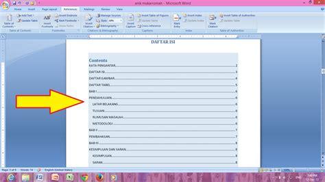 membuat daftar isi daftar gambar daftar tabel cara membuat daftar isi otomatis daftar gambar daftar