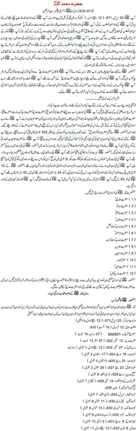 Biography Hazrat Muhammad Pbuh Urdu | prophet muhammad quotes urdu quotesgram