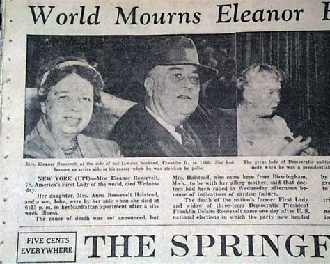 Eleanor Roosevelt In  R Newspapers M