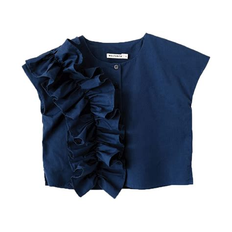 Mirisa Blouse leo wolf marisa blouse blue