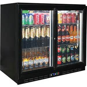 Commercial Bar Glassware Glass 2 Door Sliding Commercial Back Bar Bar Fridge Energy