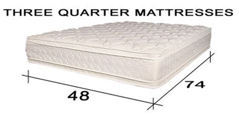 Antique Mattress Sizes by Quality Three Quarter Mattresses 48 X 74