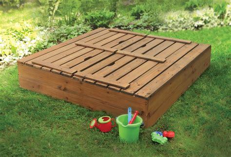 sandbox bench closed sand box backyard pinterest