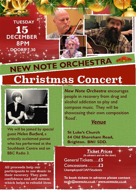Detox Support Project Brighton by New Note Orchestra Concert At St Luke S Church