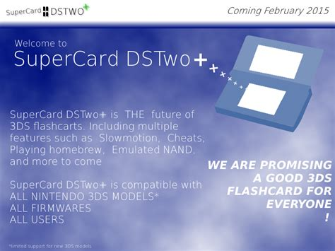 dstwo 3ds 2ds fw 960 24 dsi fw 145 update tutorial jvmgg 187 supercard dstwo plus sera disponible bient 244 t